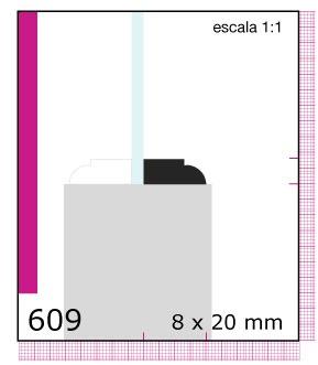 Imagen CONTRAVIDRIO DE PINO 1/2X1X3.05 MTS N609