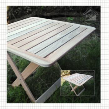 MESA EUCALIPTO PLEGABLE 80 X 80 WOOD