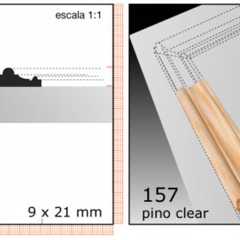 CLEAR TERMINACION X TIRA/1/2X1 N157