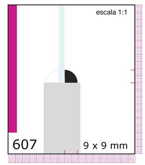 CONTRAVIDRIO DE PINO 1/2X1/2X3.05 MTS N607