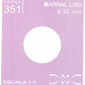 BARRAL LISO 30 MM DE DIAMETRO N351