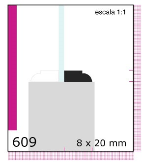 CONTRAVIDRIO DE PINO 1/2X1X3.05 MTS N609