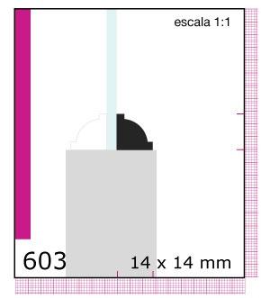 CONTRAVIDRIO DE PINO 3/4X3/4X3.05 MTS N603