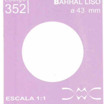 BARRAL LISO 42 MM DE DIAMETRO N352