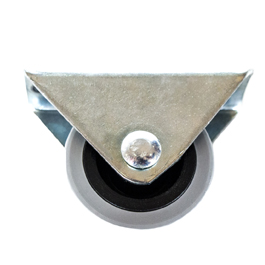 RUEDA GOMA BASE TRIANGULAR/40 MM
