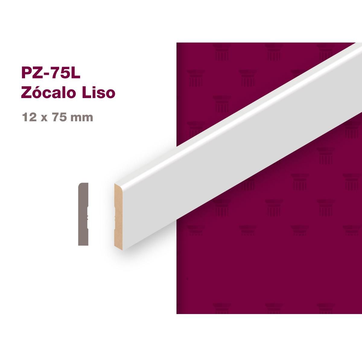 ZOCALO MDF PREPINTADO/12X75x2.75 PZ-75L