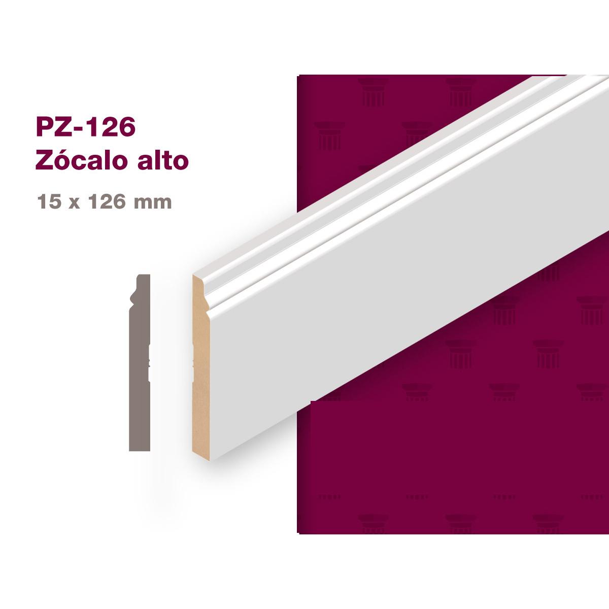 ZOCALO MDF PREPINTADO 15X126x2.75 PZ-126